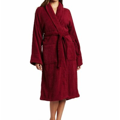 Patric Bathrobe Color: Burgundy, Size: Small