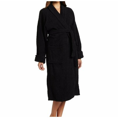 Patric Bathrobe Color: Black, Size: Small