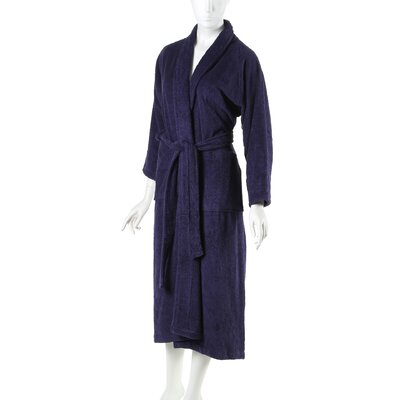 Superior Bathrobe Color: Navy Blue, Size: Small