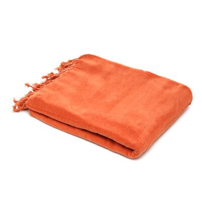 Oliver Chenille Throw Blanket Color: Terracotta