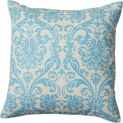 Botkins Cotton Throw Pillow Color: Sky Blue, Size: 18 H x 18 W