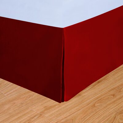 Syracuse Colors Bed Skirt Color: Scarlet, Size: Queen