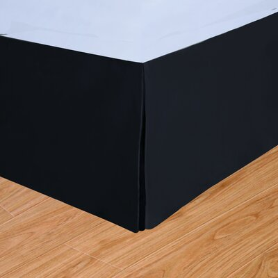 Syracuse Colors Bed Skirt Size: King, Color: Black