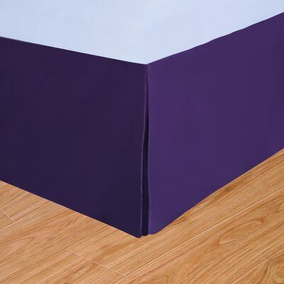 Syracuse Colors Bed Skirt Size: Twin, Color: Fig