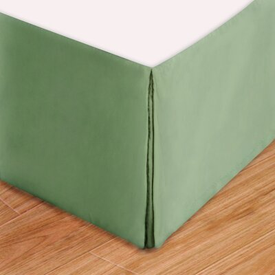 Syracuse Colors Bed Skirt Size: Twin, Color: Sage