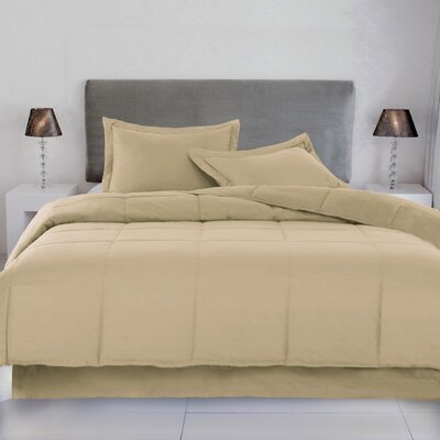Syracuse Comforter Size: Twin, Color: Wheat
