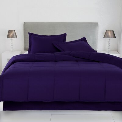 Syracuse Comforter Size: Twin, Color: Fig
