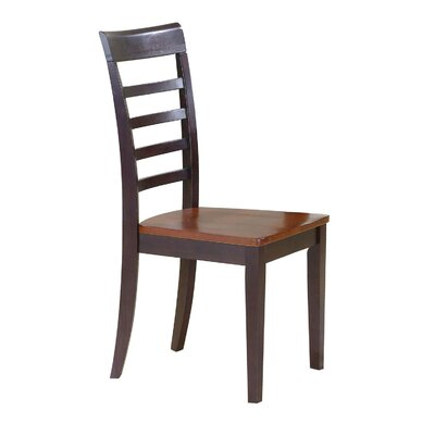 Craigy Hall Solid Wood Dining Chair (Set of 2) Finish: Chestnut / Espresso