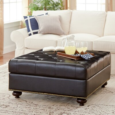 Ashmead Bonded Leather Upholstered Ottoman