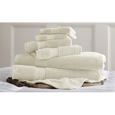 Bishopsworth 6 Piece Superior Combed Cotton Towel Set Color: Ivory
