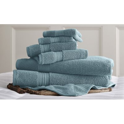 Bishopsworth 6 Piece Towel Set Color: Light Blue