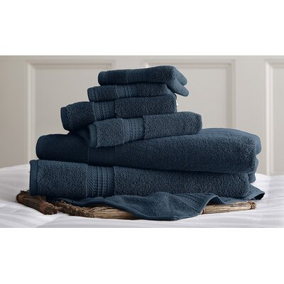 Bishopsworth 6 Piece Towel Set Color: Denim