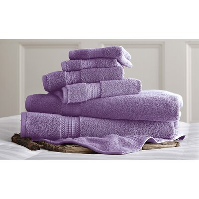 Bishopsworth 6 Piece Superior Combed Cotton Towel Set Color: Violet
