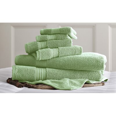 Bishopsworth 6 Piece Towel Set Color: Jade