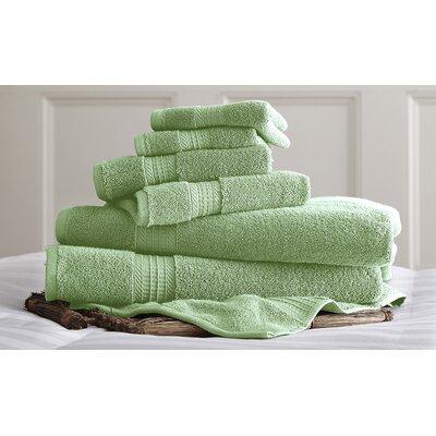 6 Piece Towel Set Color: Jade
