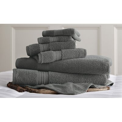 6 Piece Towel Set Color: Turquoise