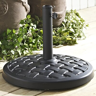 Gridley Resin Free-Standing Umbrella Base Finish: Black