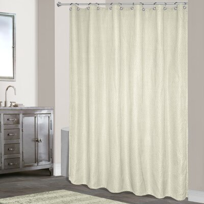 Powhatan Shower Curtain Color: Ivory
