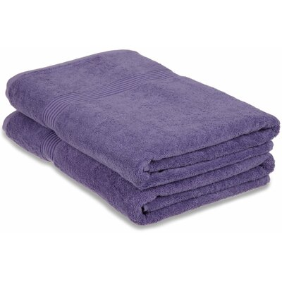 Patric 2 Piece Bath Sheet Set Color: Royal Purple