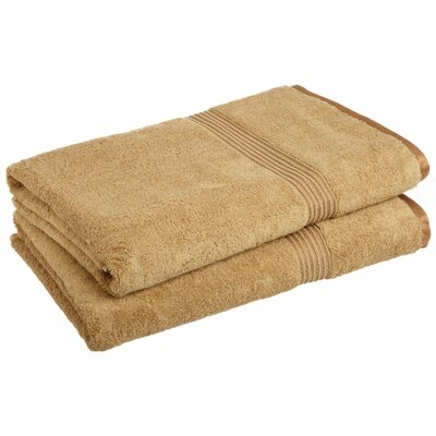 Hyde 600GSM Premium Combed Cotton 2 Piece Bath Sheet Set Color: Toast