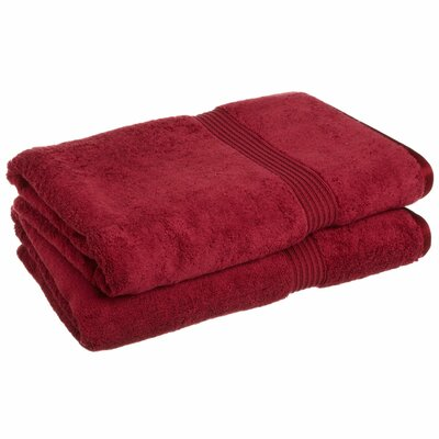Patric 2 Piece Bath Sheet Set Color: Burgundy