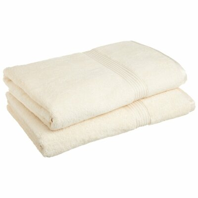 Patric 2 Piece Bath Sheet Set Color: Ivory