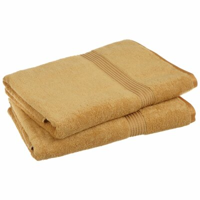 Hyde 600GSM Premium Combed Cotton 2 Piece Bath Sheet Set Color: Gold