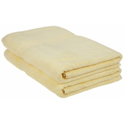 Patric 2 Piece Bath Sheet Set Color: Canary