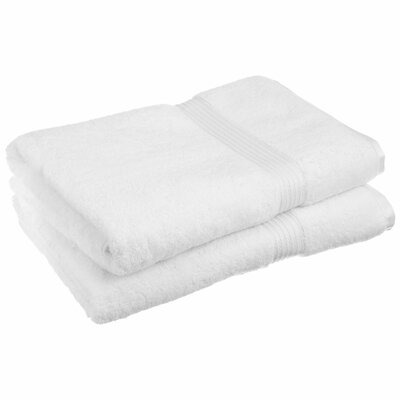 Patric 2 Piece Bath Sheet Set Color: White