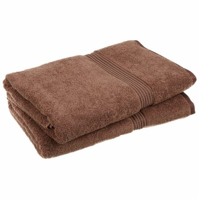 Hyde 600GSM Premium Combed Cotton 2 Piece Bath Sheet Set Color: Mocha