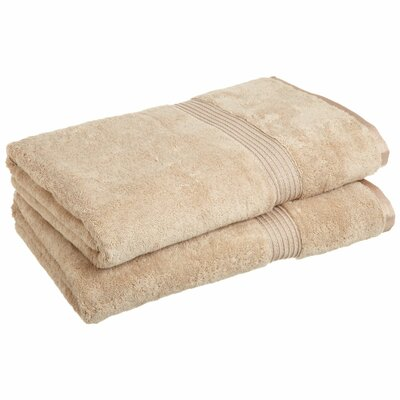 Patric 2 Piece Bath Sheet Set Color: Taupe