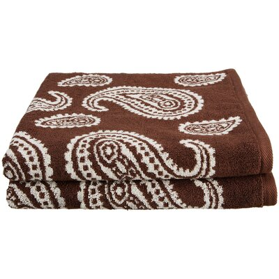 Luxurious 2 Piece Bath Towel Set Color: Chocolate