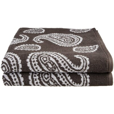 Chestnut Street Bath Towel 2 Piece Towel Set Color: Charcoal