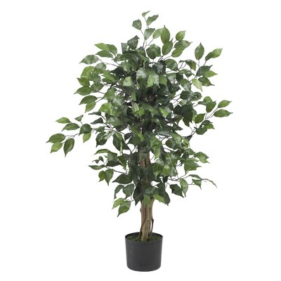 Alcott Hill Parkes Silk Ficus Tree in Pot