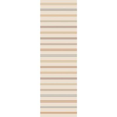 Nashville Hand-Woven Beige Area Rug Rug Size: Runner 26 x 8