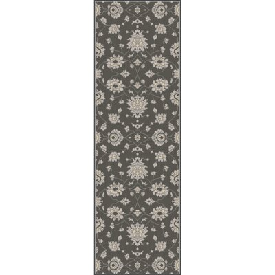 Langport Forest & Light Gray Area Rug Rug Size: Runner 26 x 8