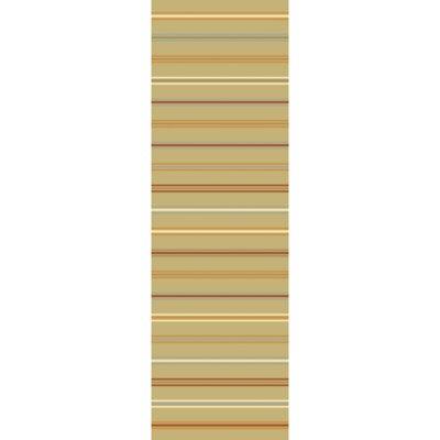 Nashville Olive/Burnt Orange Area Rug Rug Size: Runner 26 x 8