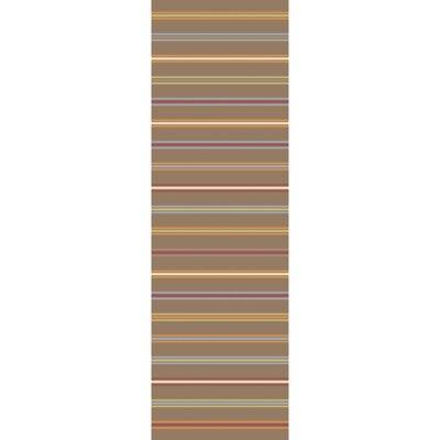 Nashville Hand-WovenBrown Area Rug Rug Size: Runner 26 x 8