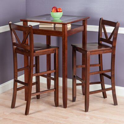 Belmont 3 Piece Pub Table Set