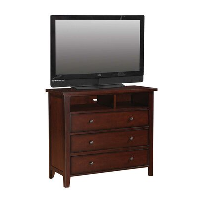 Blackwell 3 Drawer Media Dresser Finish: Cherry