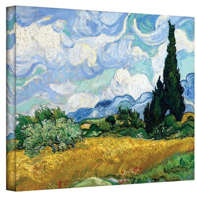 Cypress by Vincent Van Gogh Painting Print on Wrapped Canvas Size: 14