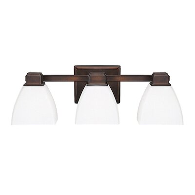 Glendale 3-Light Vanity Light Finish: Burnished Bronze