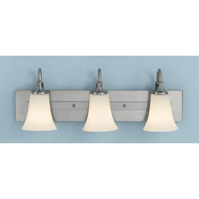 Pompton 3-Light Vanity Light Finish: Brushed Steel