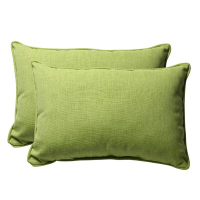 Broughton Outdoor Throw Pillow Size: 16.5 W x 24.5 D, Color: Green Textured Solid