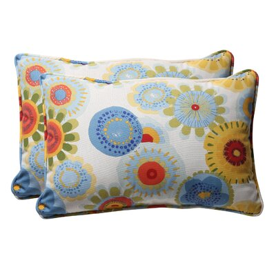 Snowdon Outdoor Lumbar Pillow Color: Multicolored Floral, Size: 11.5 W x 18.5 D