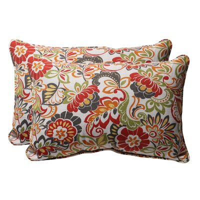 Broughton Outdoor Throw Pillow Size: 11.5 W x 18.5 D, Color: Red / Green Floral