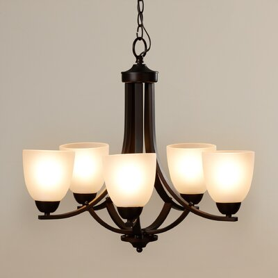 Hayden 5-Light Shaded Chandelier Finish: Oil Rubbed Bronze
