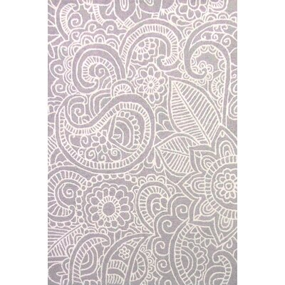 Glenford Hand-Hooked Purple Area Rug Rug Size: Rectangle 2 x 3