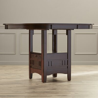 Norwalk Counter Height Extendable Dining Table Finish: Espresso