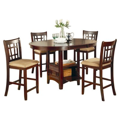 Norwalk Counter Height Extendable Dining Table Finish: Warm Brown